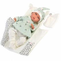 Llorens Mimi újszülött sírós lány baba kutyusos ruhában