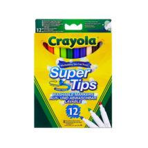 Crayola: vékony filctoll, lemosható, 12 db
