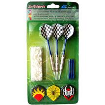 Darts nyíl szett mintás tollakkal