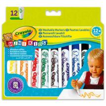 Crayola Mini Kids: 12 db tompa hegyű filctoll