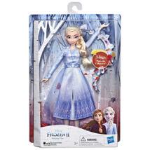 Disney hercegnők: Jégvarázs 2 éneklő Elza baba - 28 cm