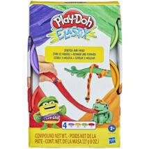 Play-Doh: Elastix 4 darabos készlet - többféle