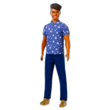 Barbie Fashionistas: Barna bőrű Ken baba virágmintás ingben
