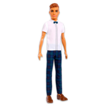 Barbie Fashionistas: Barna hajú vékony Ken baba csokornyakkendővel