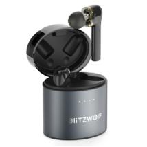 BlitzWolf® BW-FYE8: teljesen vezeték nélküli grafén Dual Dynamic Driver fülhallgató töltőtokkal