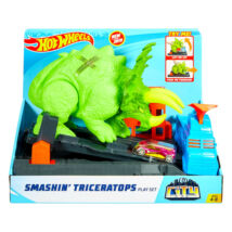 Hot Wheels City Triceratops zúzó pályaszett