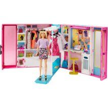 Barbie Fashionistas: Álomgardrób szőke hajú babával és kiegészítőkkel