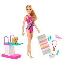 Barbie Dreamhouse: Barbie baba fürdőruhában kiegészítőkkel