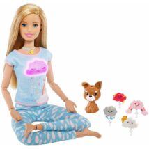 Barbie: Meditációs baba kutyussal, fény- és hanghatásokkal