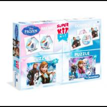 Clementoni Disney Jégvarázs + Memória + Dominó - 2x30 darabos puzzle