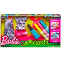 Barbie Crayola: Ruhafestő készlet - rózsaszín