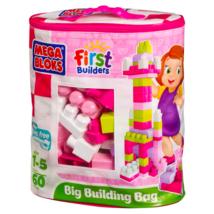 Mega Bloks: 60 db lányos építőkocka táskában