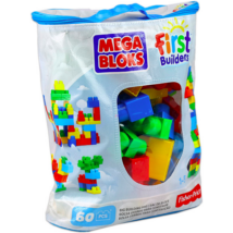 Mega Bloks: 60 db klasszikus színű építőkocka táskában