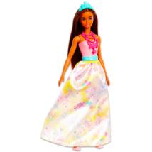 Barbie Dreamtopia: Barna hajú hercegnő baba