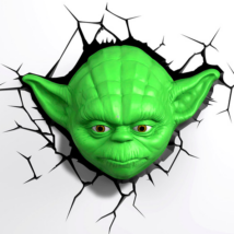 3D LED Fali lámpa Star Wars Yoda