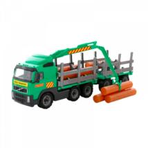 Volvo fákat szállító teherautó pótkocsival 74 cm