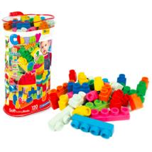 Clemmy Plus: 120 darabos puha építőkocka készlet táskában