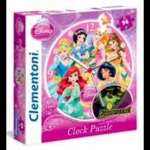Disney Hercegnők Óra - 96 darabos puzzle