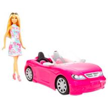 Barbie: Baba rózsaszín kabrióval