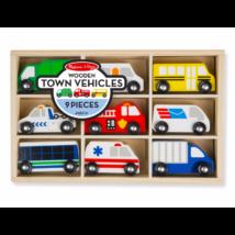 Melissa & Doug Fa jármű, Városi autók, 9 db