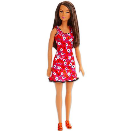 Barbie: Divatos barna hajú Barbie virágos ruhában