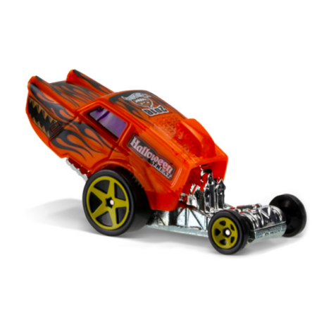 Hot Wheels Holiday Racers: Poppa Wheelie kisautó - narancssárga