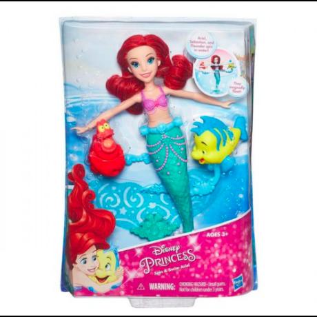 Disney Hercegnők Ariel úszó-forgó baba