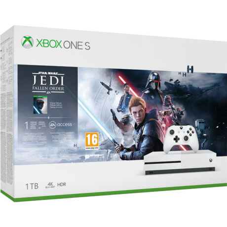 Microsoft Xbox One S 1TB játékkonzol + Star Wars Jedi: Fallen Order játékszoftver