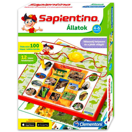 Clementoni-Sapientino: állatok - új kiadás