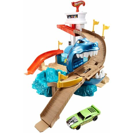 Hot Wheels City színváltós kisautók - Cápatámadás pálya