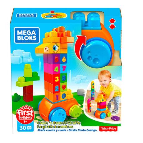 Mega Bloks: számoló zsiráf 30 darabos építőjáték
