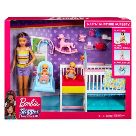 Barbie Skipper: bébiszitter gyerekszoba szett