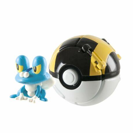 Tomy: Pokémon Froakie figura pokélabdával