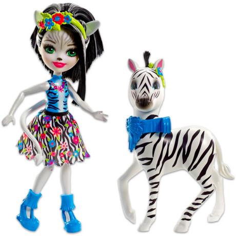 Enchantimals: Zelena zebra és Hoofette figura