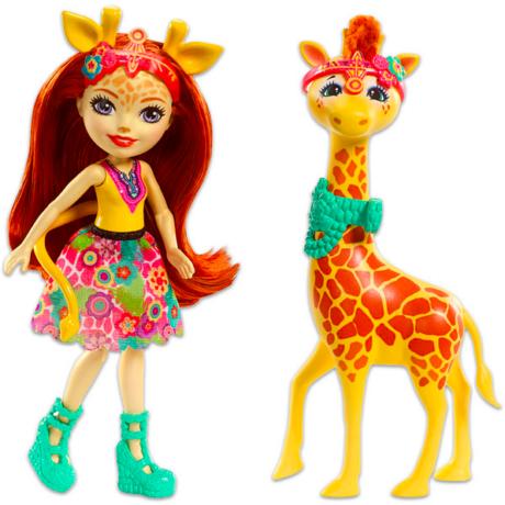 Enchantimals: Gillian zsiráf és Pawl figura