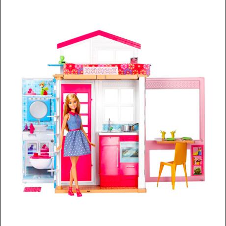 Barbie: 2 szintes ház Barbie babával