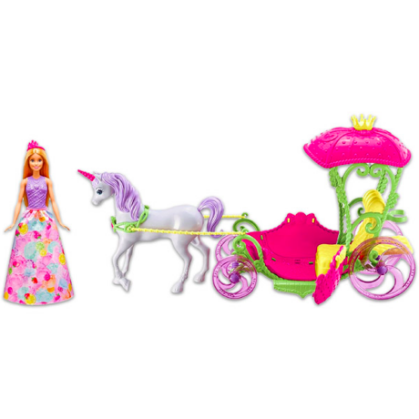Barbie: Dreamtopia - Hintó Pegazussal Barbie babával