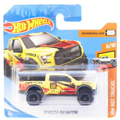 Hot Wheels '17 Ford F150 Raptor kisautó