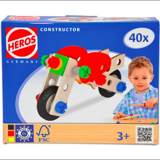 Heros Constructor fa 40 darabos építőjáték - motor és repülő