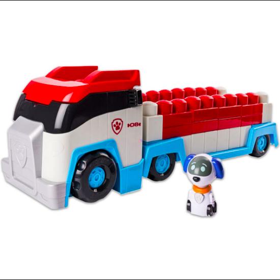 Mancs őrjárat: 36 darabos építőkocka kamionban Robo-kutyus figurával