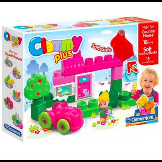 Clemmy Puha, bébi építőjáték szett - Vidéki házikó 15 db