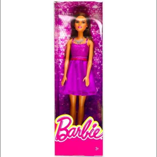 Barbie: Parti Barbie - csillogó lila ruhában