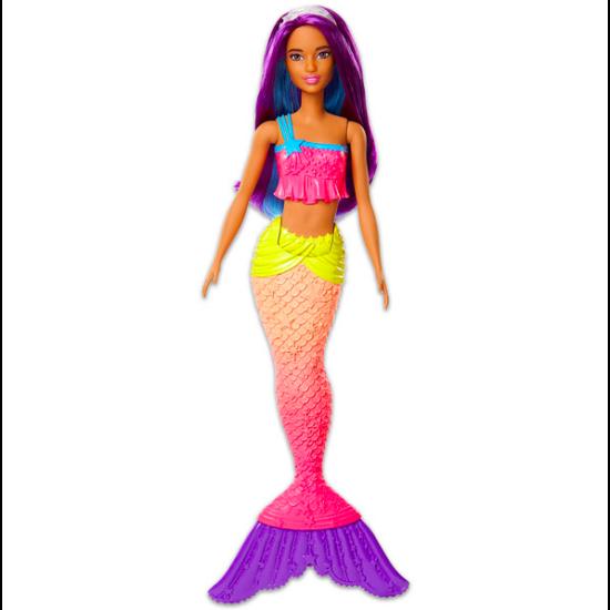 Barbie Dreamtopia: lila hajú Sellő baba