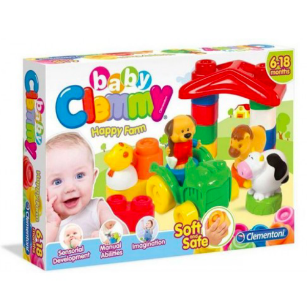 Clemmy Baby Puha, bébi építőjáték szett - Boldog Farm