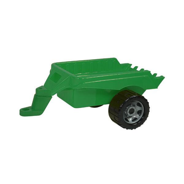 LENA Zöld traktor utánfutóval 47 cm