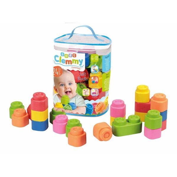 Clemmy Baby Puha, bébi építőjáték szett táskában - 24 db-os