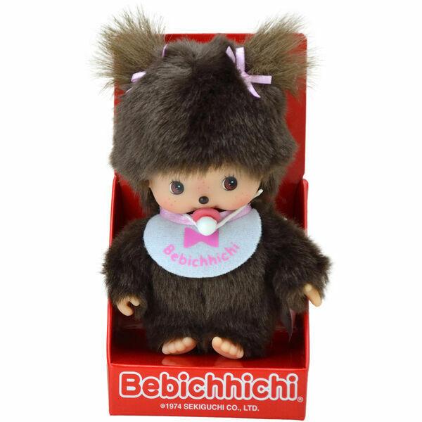Bebichhichi: Klasszikus kislány rózsaszín előkével - 15 cm