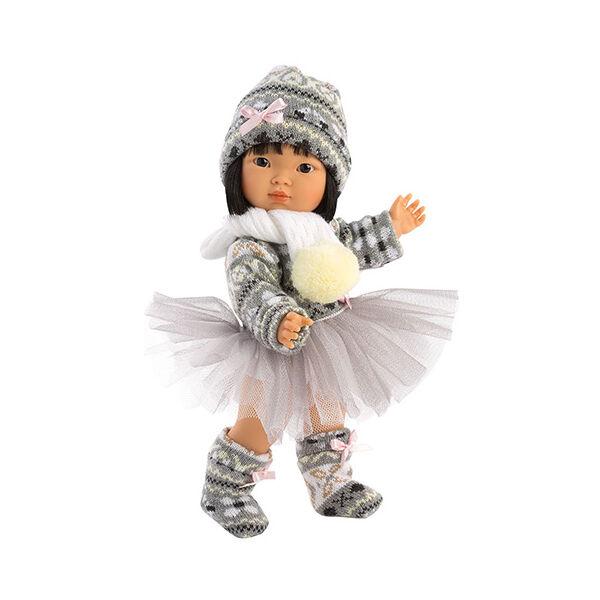 Llorens Lu baba kötött ruhában 28 cm