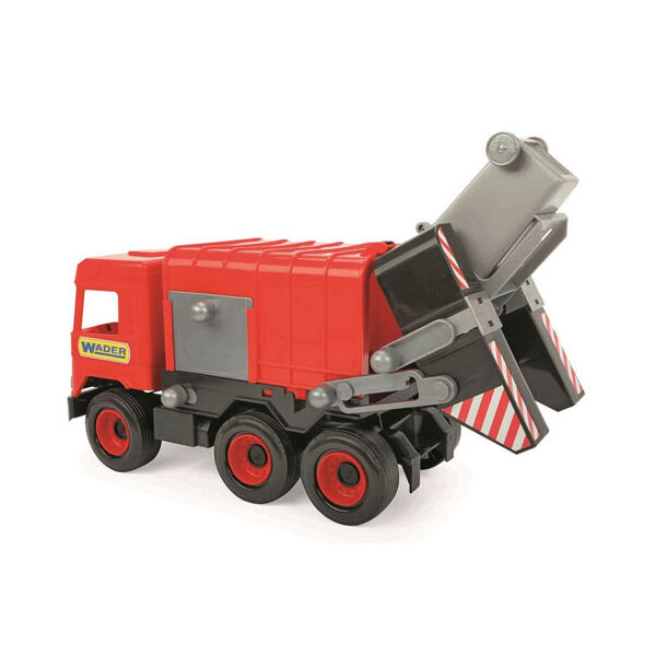Wader Middle Truck Kukásautó 42 cm piros
