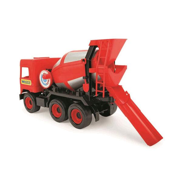 Wader Middle Truck Betonkeverő autó 43 cm piros